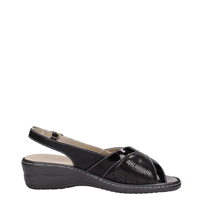 Melluso 02338 Sandalo Donna Pelle Nero Nero 40 snlDGO
