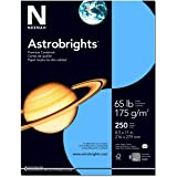 Wausau Astrobrights 65# Premium Cardstock, 250 Count, Lunar Blue, 8.5 X 11 Inches (21728)