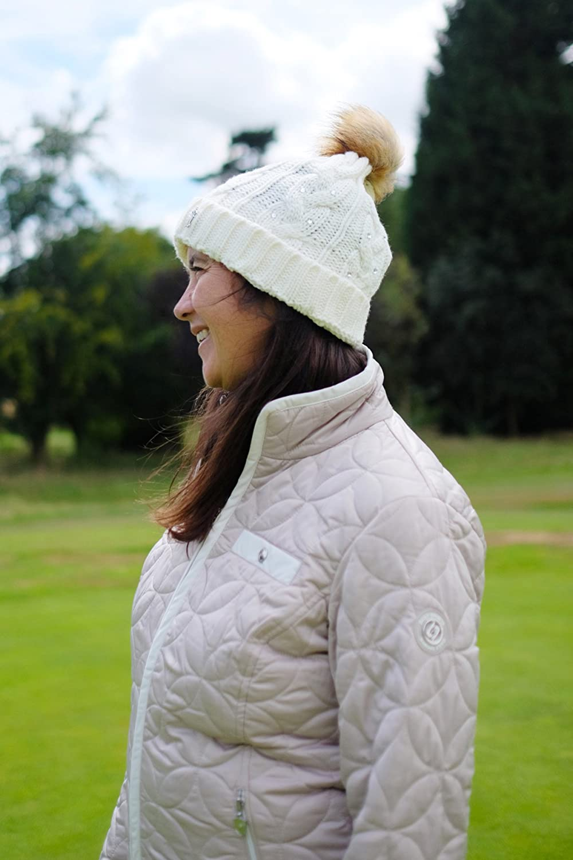 Surprizeshop Women s Cable Golf Bobble Hat 12a3cbc09030