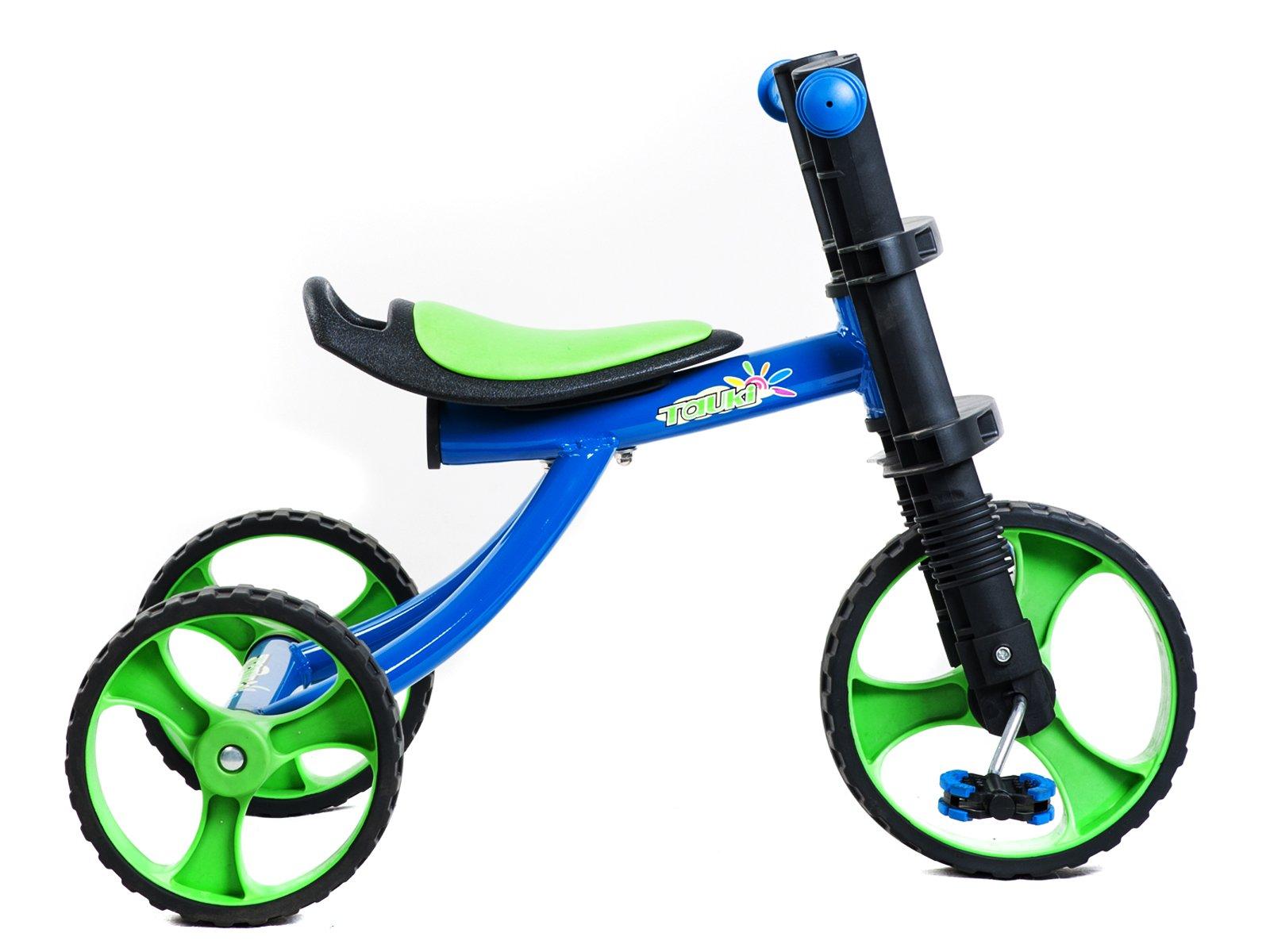 Tauki 12 Inch Kids Tricycle 3 Wheels Toddler Trike, Blue