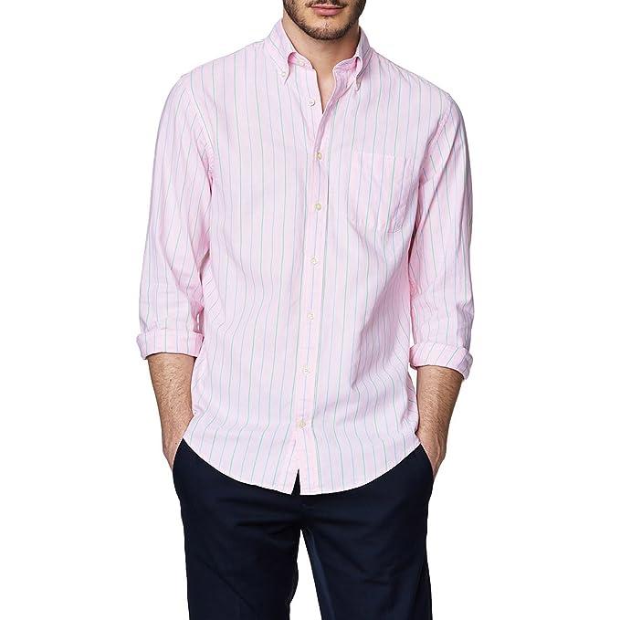 Gant Preparación Oxford Sunset Raya Hombres LS BD de Camisa Nantucket Pink  M  Amazon.es  Ropa y accesorios f330c685970