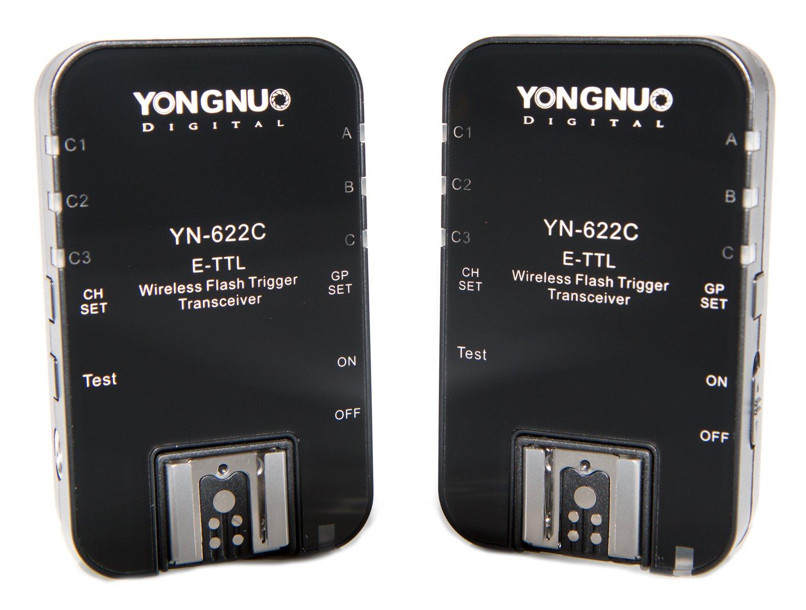 Yongnuo YN-622C-USA E-TTL 2.4-GHz Wireless Flash Trigger Transceiver Pair for Canon DSLRs, US Warranty (Black)