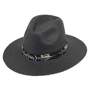 3c7bd911e0735 Guy Harvey Mens Sun Hat Woven Ribbon Brim 3