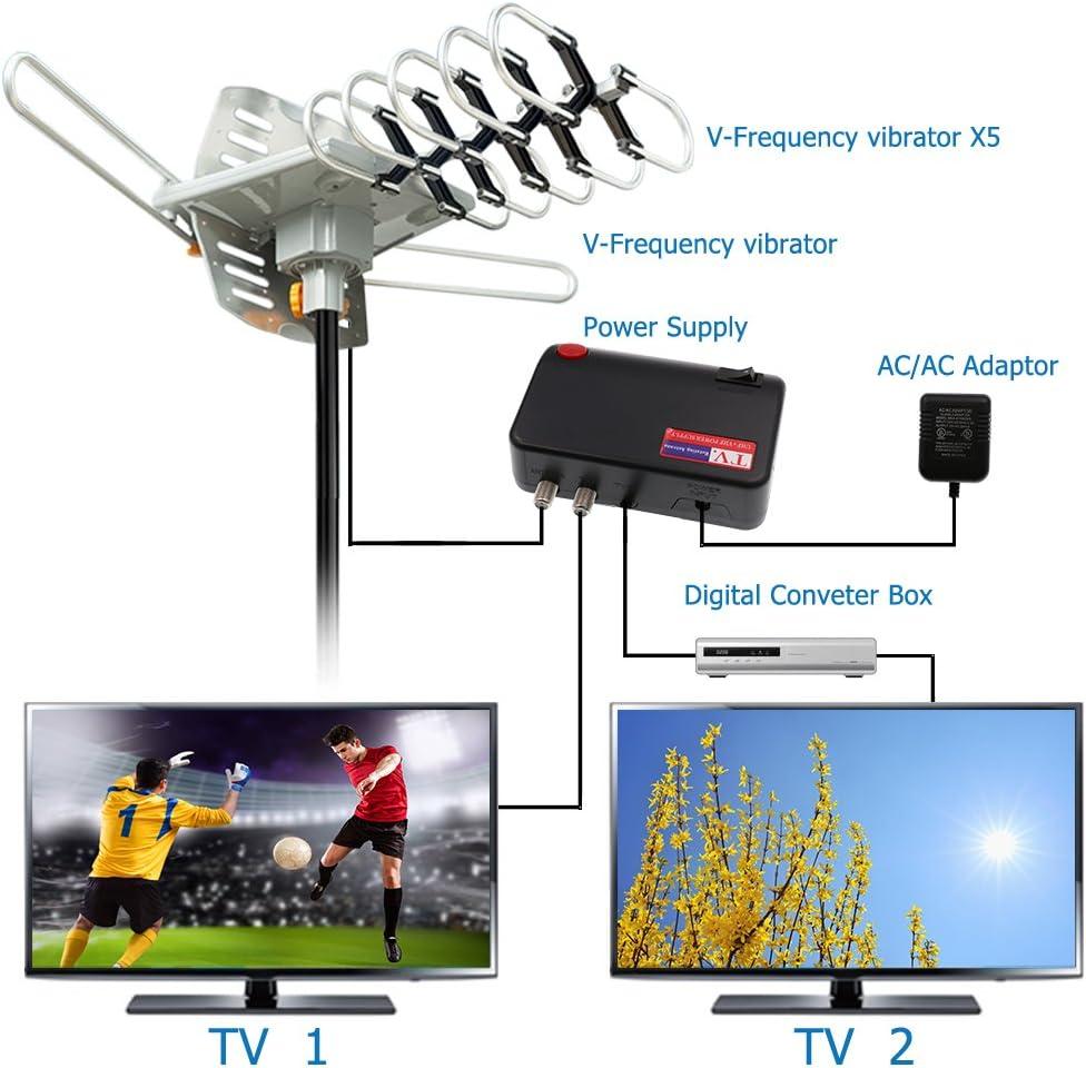 Vansky Antena de TV - HDTV Exterior Antena Digital 150 Milla ...