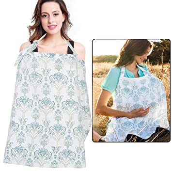 Nursing Shawl Apron Udder Cover Poncho Feeding Breathable Cotton Scarf For Women