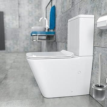 Turbo KeraBad Randlose Stand-WC Kombination mit Spülkasten WC-Sitz aus ES01