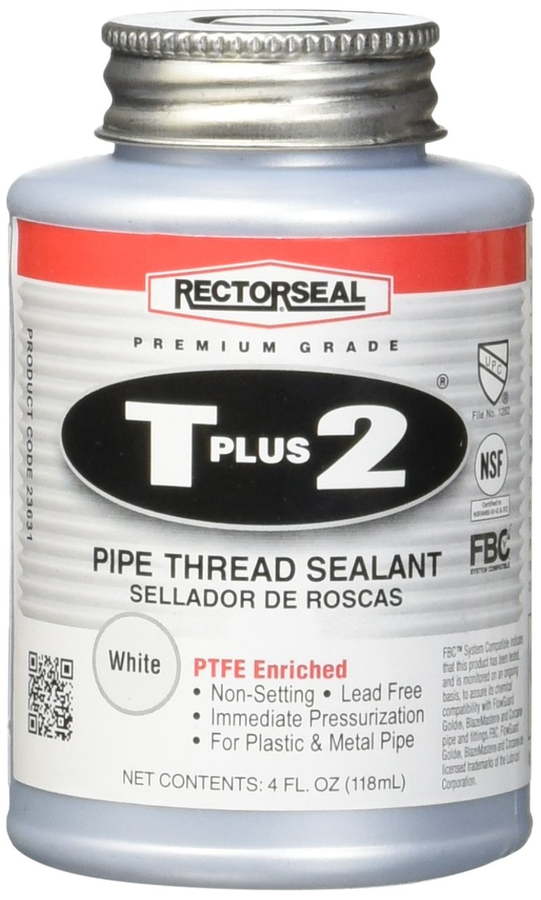 Rectorseal 23631 1/4 Pint Brush Top T Plus 2 Pipe Thread Sealant product image