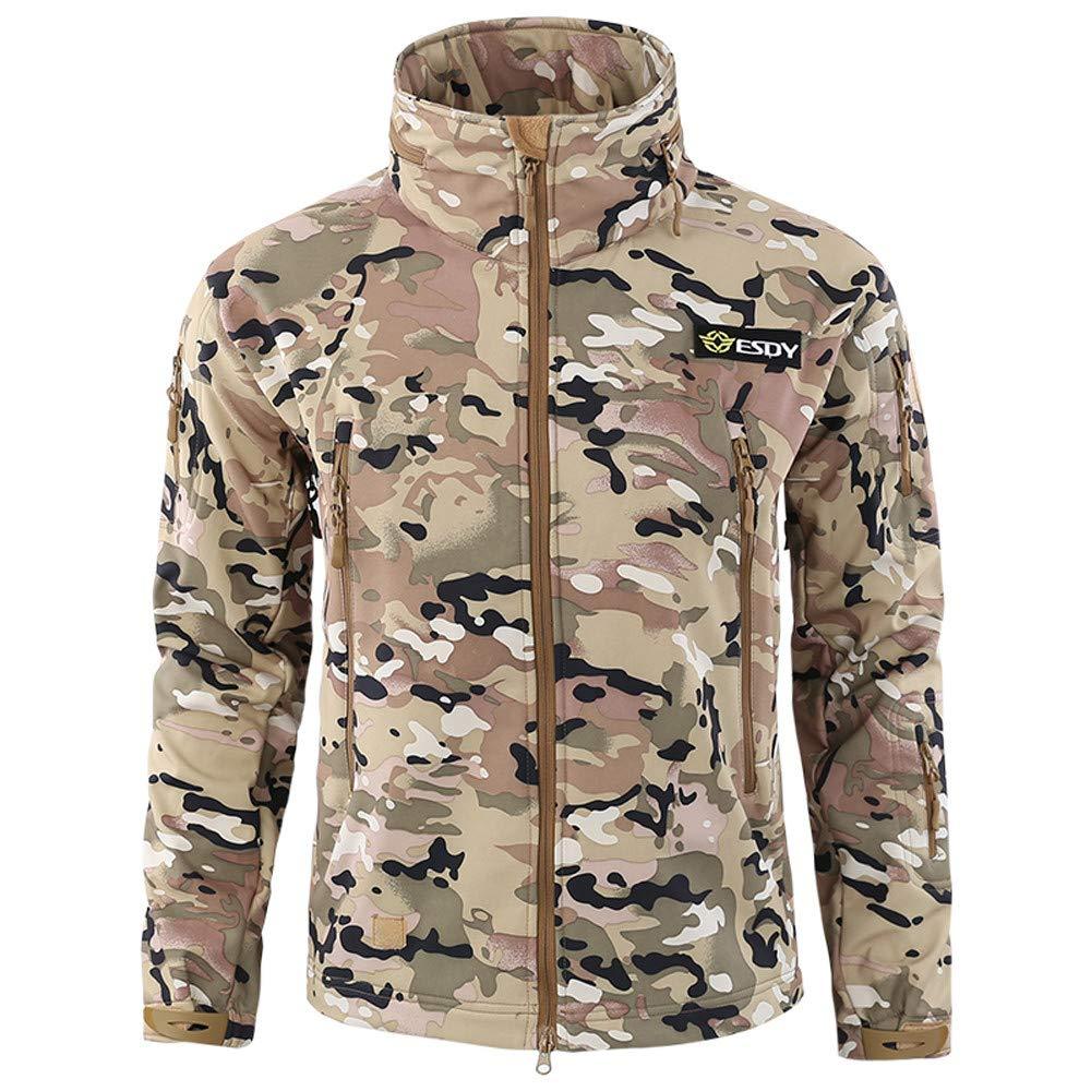 Armeejacke Herren UFODB Sportjacke Männer Militär Jacke Gepolsterte Camouflage Sweatjacke Outdoorjacken Wetterjacke Wanderjacke Outwear