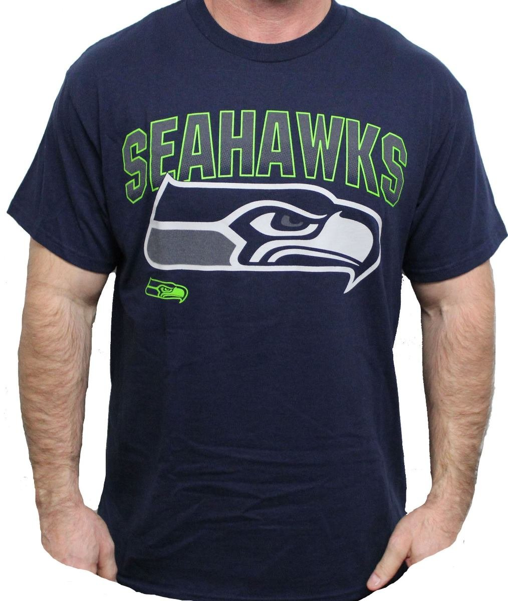 Seattle Seahawks Majestic NFL 2015 Reflective Short Sleeve Men's Navy T-Shirt