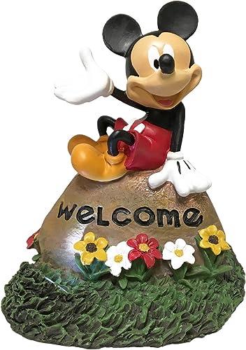 Solar LED Garden Rock Mickey Mouse Welcome