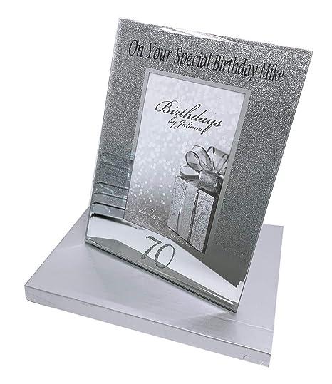 70th brillante feliz cumpleaños marco de fotos regalo edad ...