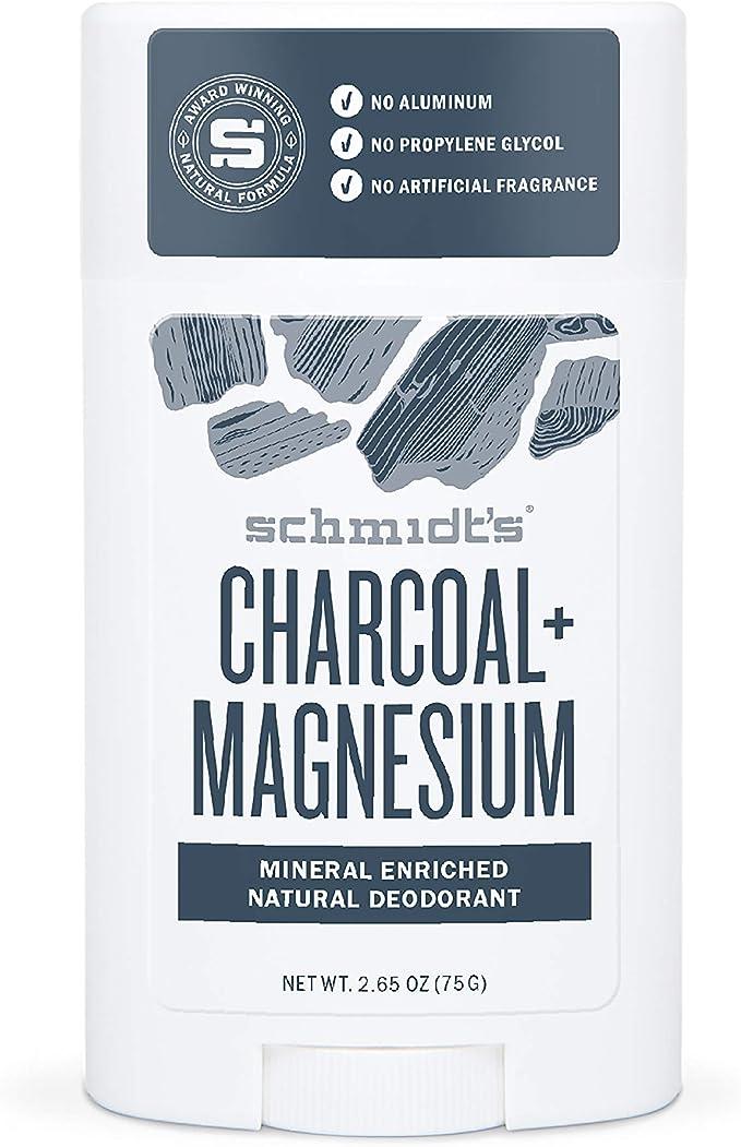 Schmidts - Desodorante Natural en Barra Carbón y Magnesio Vegano - 75 g
