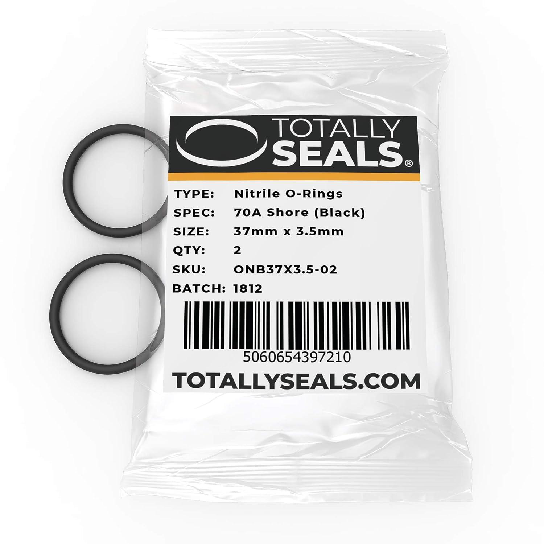 37 x 3,5 mm O-Ringe aus Nitrilkautschuk 44 mm Au/ßendurchmesser 1 70A Shore H/ärte Schwarz verschiedene Packungsgr/ö/ßen