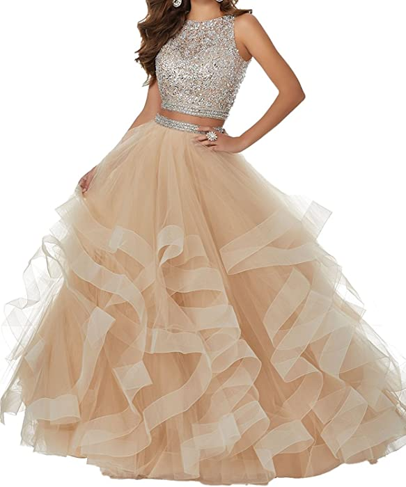Amazon.com: Ladsen 2108 Sweet 16 Ball Gown Beading Quinceanera ...