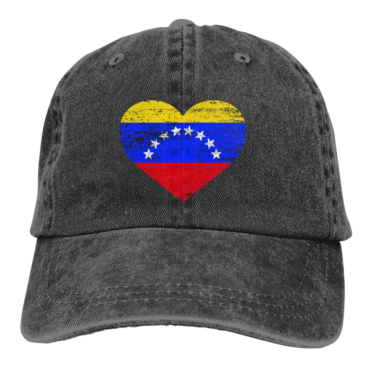 Unisex Venezuela Heart Shaped Flag Vintage Washed Dad Hat Cute Adjustable Baseball Cap