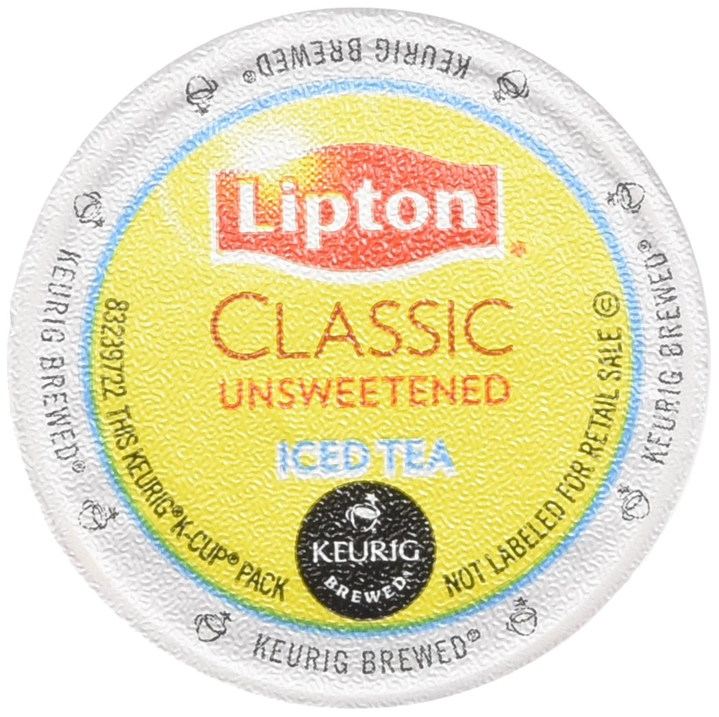 Lipton K-Cup Packs, Classic Unsweetened ICED Tea, 48 Count