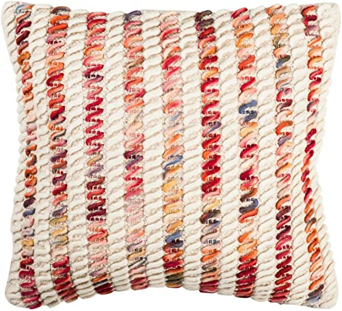 Safavieh Collection Cane Looped 20 Throw Pillow, Candy Red