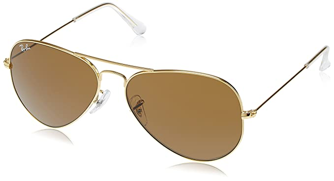 Ray-Ban Aviator Unisex Sunglasses (RB3025 58 Brown color)  Amazon.in ... e4e3252805c