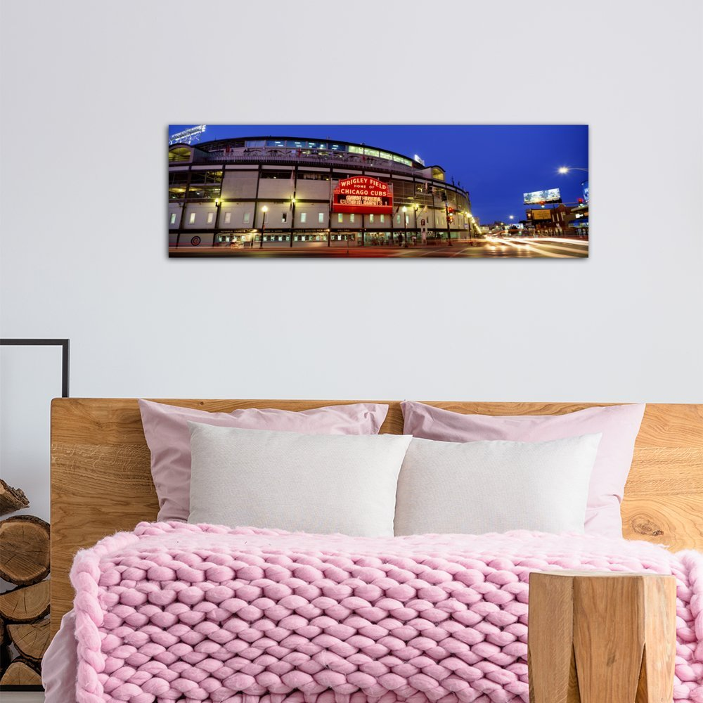 Baseball #3 Canvas Print by Panoramic Images Cubs 48 x 16//1.5 Deep iCanvasART 3 Piece USA Chicago Illinois
