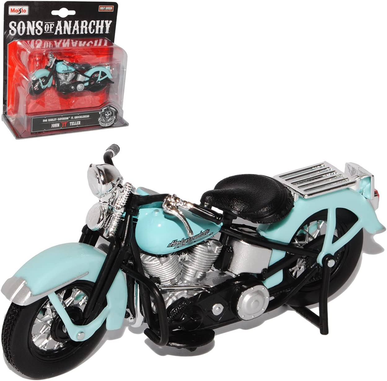 "Harley Davidson 1946 FL Knucklehead 1:18  Sons of Anarchy /""JT/"" John Teller"