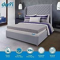 Durfi 6-Inch Orthopedic Memory Foam Mattress in Grey
