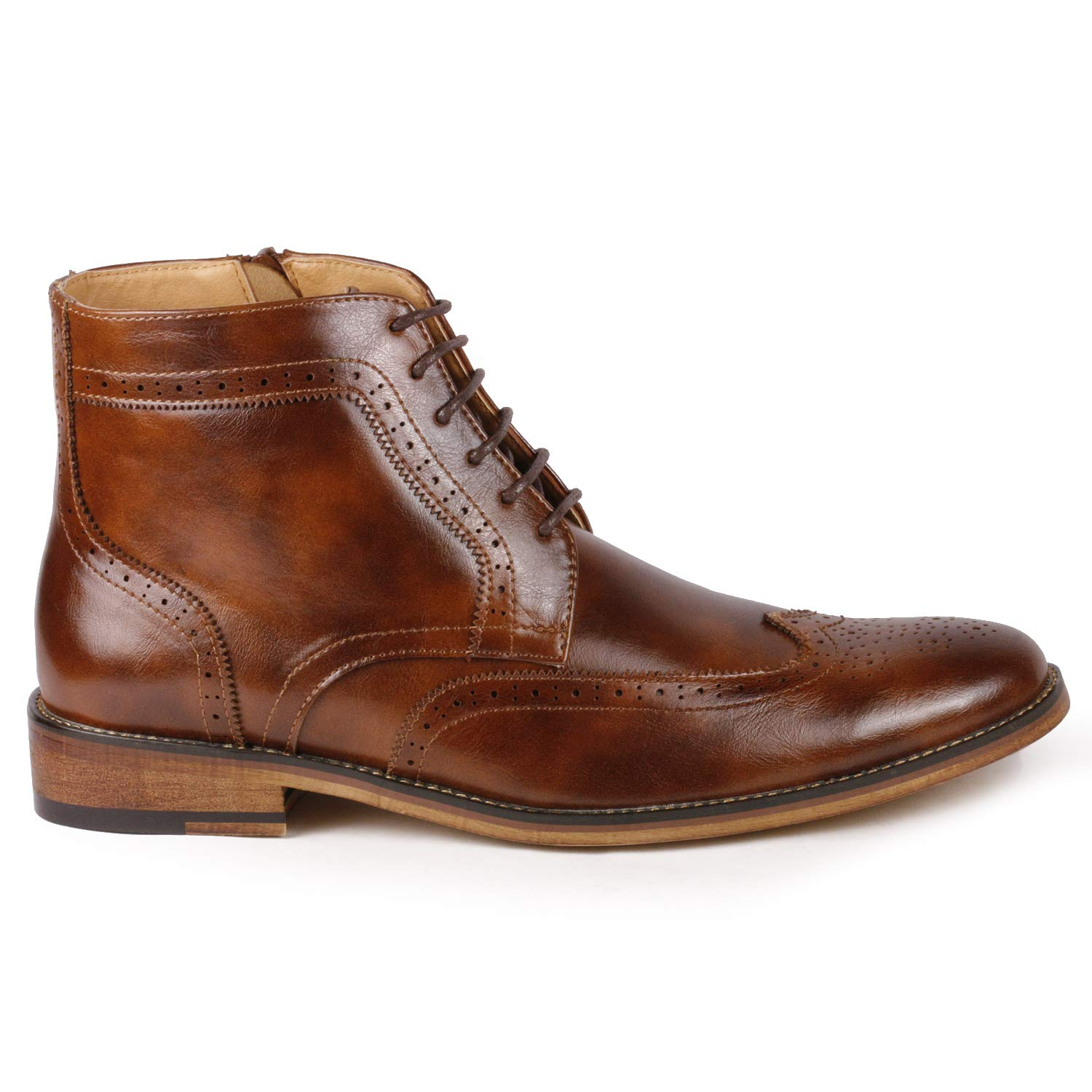 Metrocharm MC141 Mens Wing Tip Lace up Ankle Dress Oxford Boot