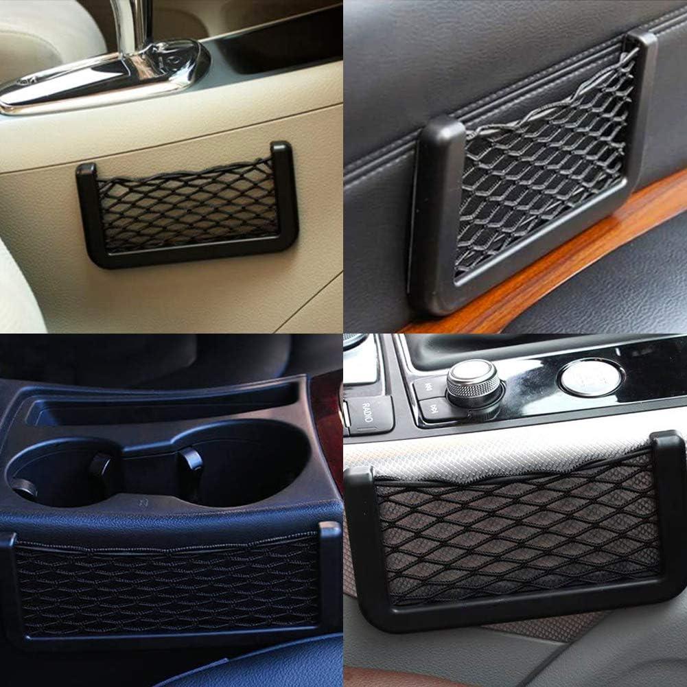 CHEPL Car Trunk Storage Net 2 Pack Rete Bagagliaio Auto Ideale per Cellulare Portafoglio Chiavi Piccole Cose