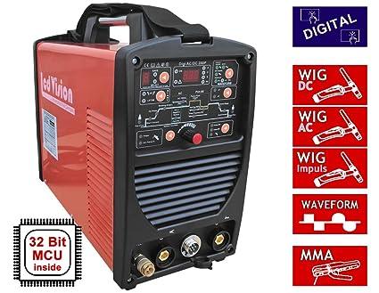 Digi AC/DC de 200P Wig TIG Soldador de pulso con forma curva +E-Hand ...