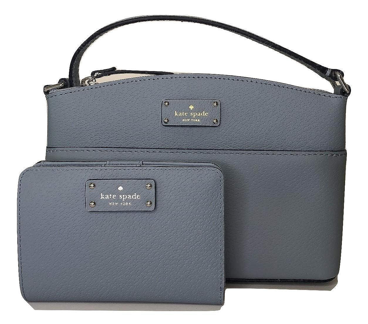 e3f8ebb62da71 Amazon.com  Kate Spade Grove Street Millie Crossbody Handbag bundled with  matching Tellie Card Wallet (Blue Dawn)  Shoes