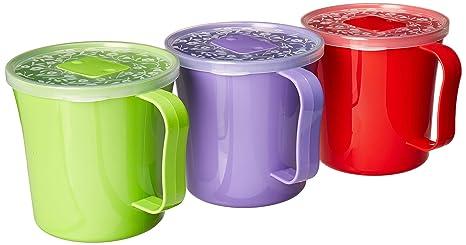 Amazon.com: Zilpoo - Juego de 3 tazas de sopa extra grandes ...