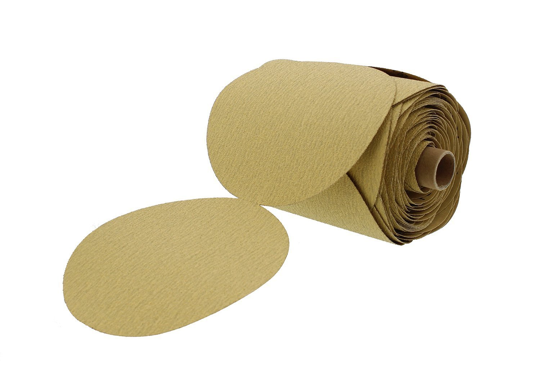 Premium Gold 6'' PSA Sticky Back Sanding Discs Roll 180 Grit