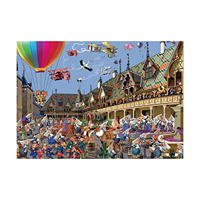 Piatnik Ruyer Wine Auction in Beaune Jigsaw Puzzle (1000 Pieces): Toys & Games