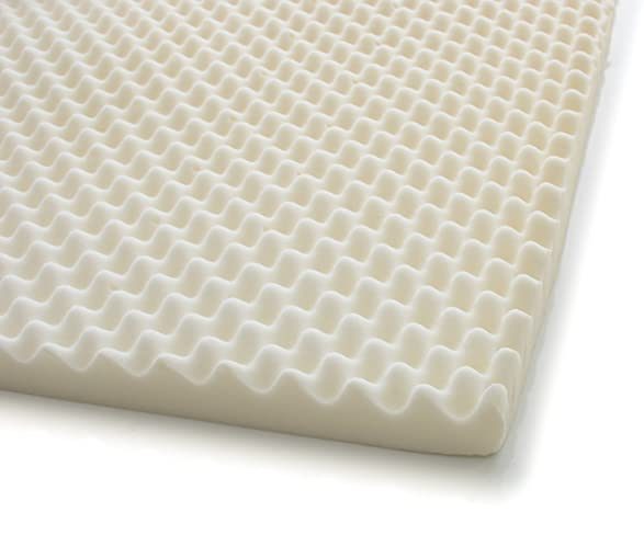 amazoncom milliard 2inch egg crate ventilated memory foam mattress topper with ultrasoft removable waterproof cover king home u0026 kitchen