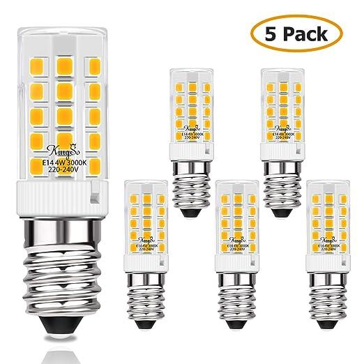 KINGSO 5pack E14 Bombilla LED 4W Equivalente a Una Bombilla ...
