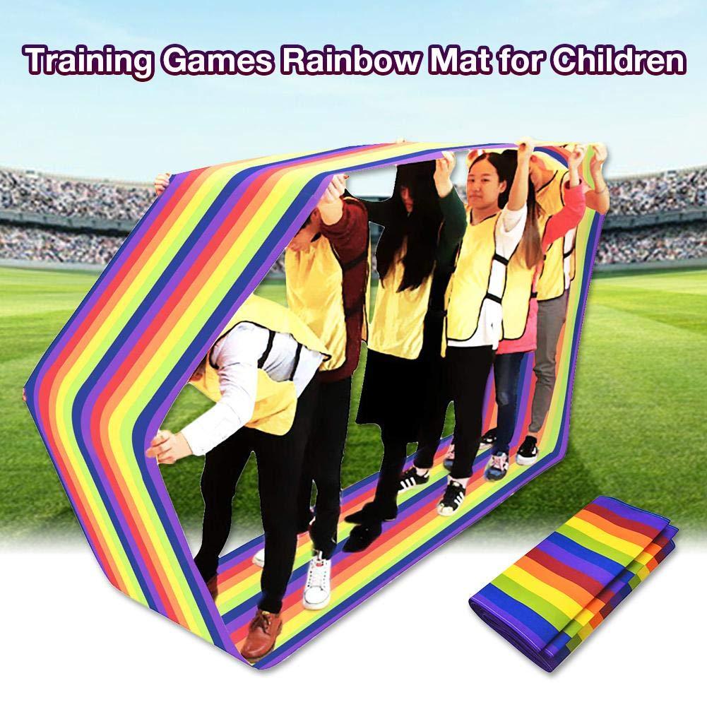 Feileng Outdoor Play Kids Group Learning Activity Fun Playing Run Mat, Training Games Rainbow Mat for Children Noble by Feileng (Image #4)