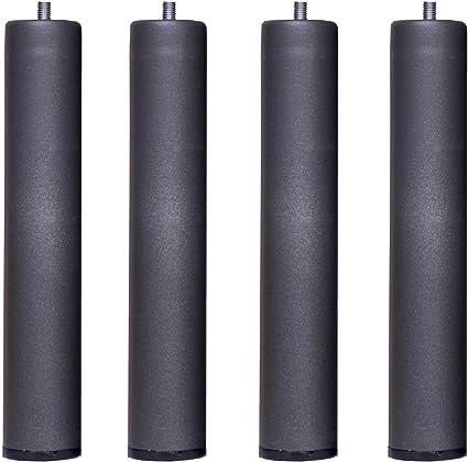Bonitex - Somier + 4 patas cilindricas 135x190cm: BALDA ANCHA, TUBO ACERO 40x30MM, REFUERZO CENTRAL, Láminas de chopo-flex