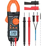 Proster Digital Clamp Meter Auto-Ranging Multimeter TRMS 6000 Counts with NCV AC/DC Voltage Current Continuity…
