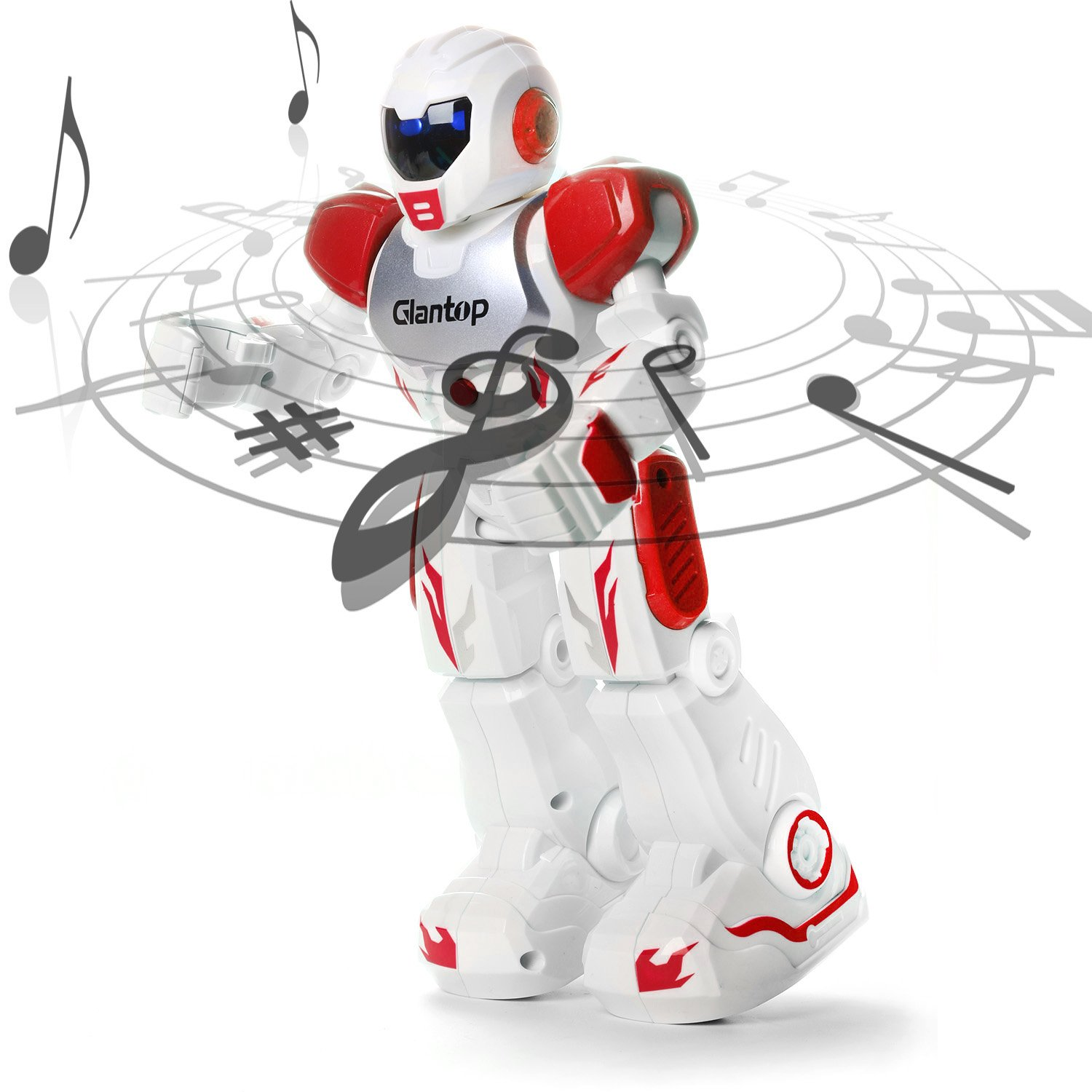 Glantop Remote Control RC Robots Interactive Walking Singing Dancing Smart Programmable Robotics for Kids Boys Girls (Red) by Glantop (Image #5)