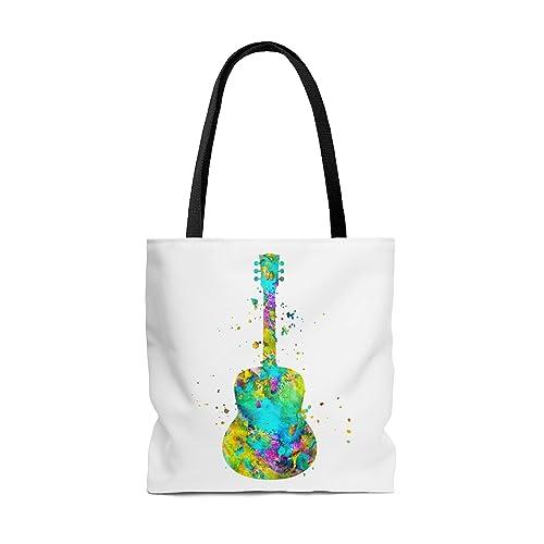 Amazon.com: Watercolor Guitar Tote Bag, Books Bag, Beach Bag ...