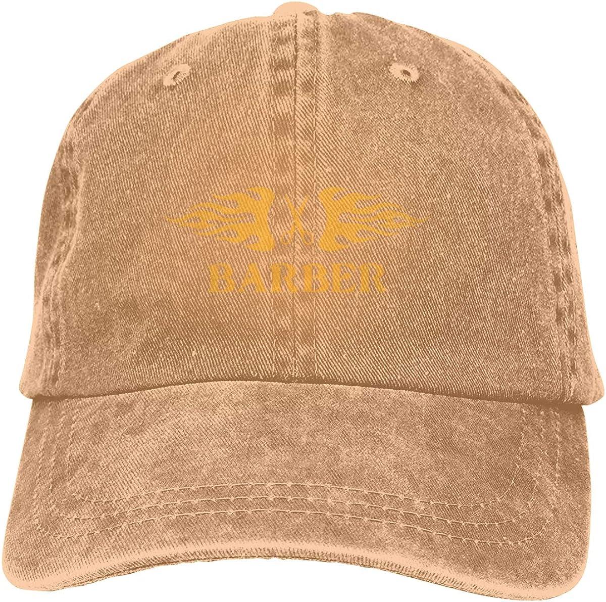 Barber Red Adult Custom Cowboy Sun Hat Adjustable Baseball Cap