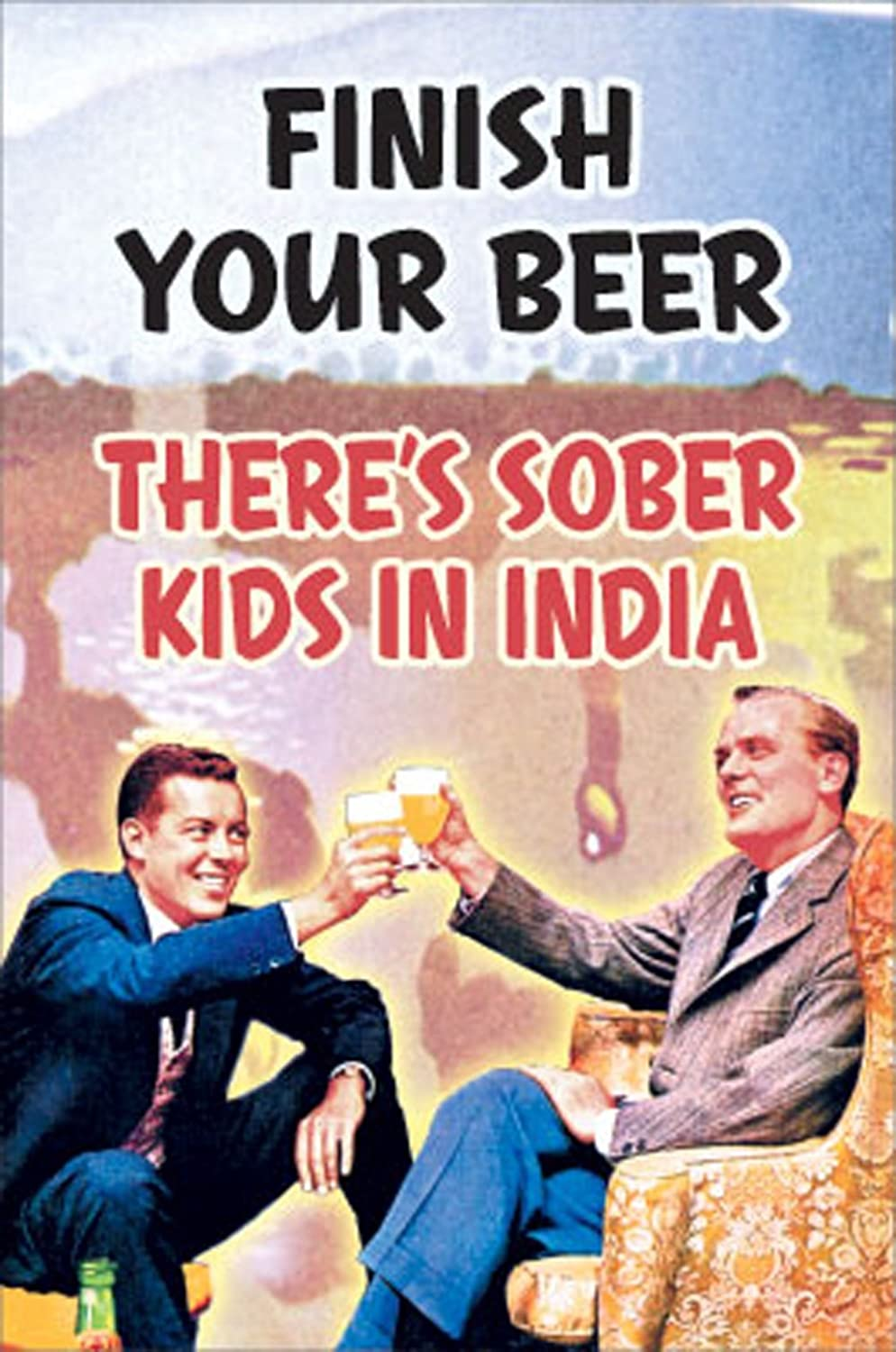 Poster Service 88390 Finish Your Beer Decorative Poster