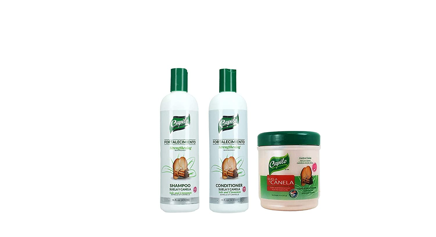 Suela Y Canela 16 Oz, Conditioner, Rinse and Shampoo!!! by laboratorios capilo