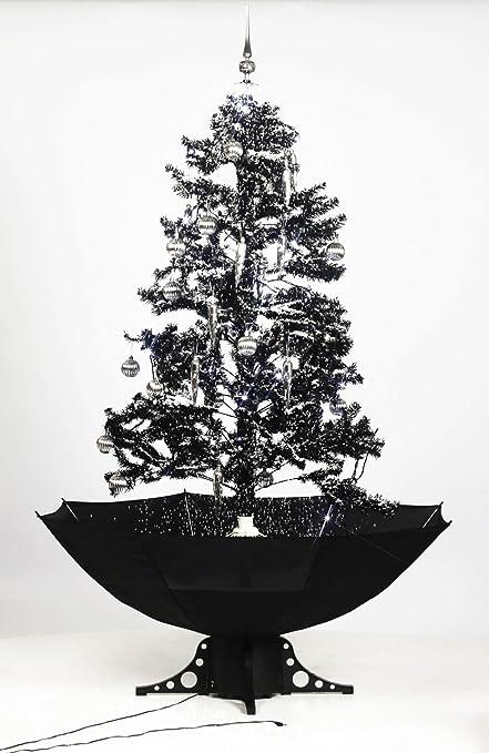 Smart Buy Self Snowing Christmas Tree Black 140CM - Smart Buy Self Snowing Christmas Tree Black 140CM: Amazon.co.uk