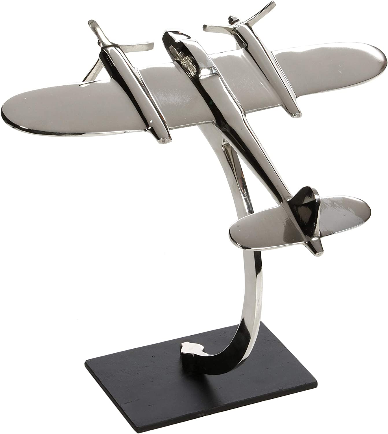 "Hosley 11.25"" High, Decorative Tabletop Sculpture Plane. Ideal Gift for Wedding, Home, Party Favor, Spa, Reiki, Meditation, Bathroom Settings O9"