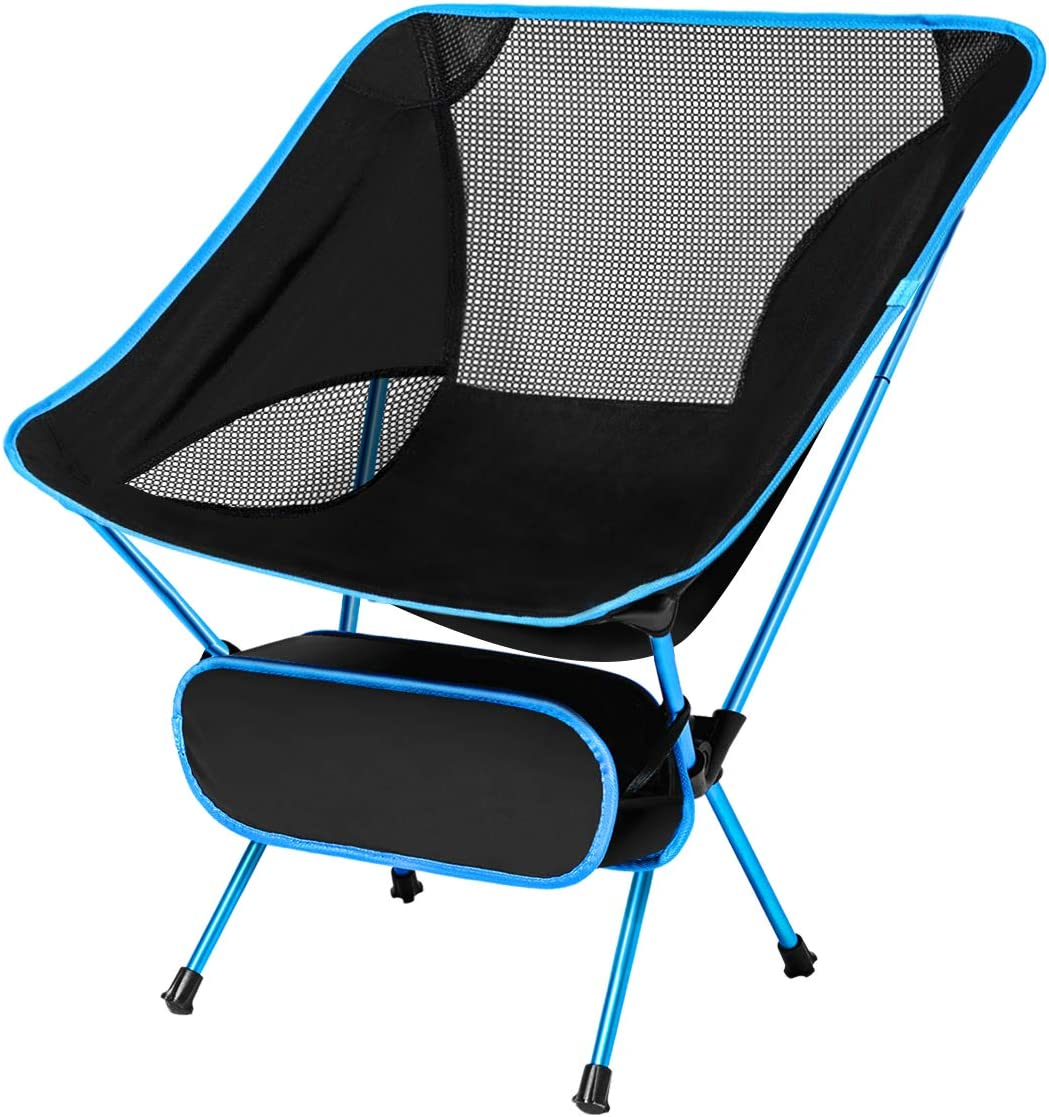 CUJMH Ultralight Folding Camping Chair Portable Compact Lightweight Backpacking Beach Chairs with Carry Bag for Outdoor, Camp, Picnic, Hiking, Travel, Festival