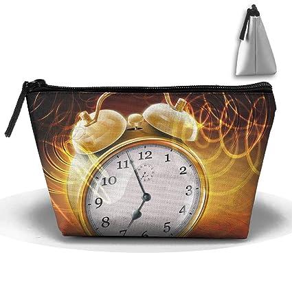9aeb0df04342 Amazon.com: Travel Cosmetic Bags Clocks Ringing Small Makeup Bag ...