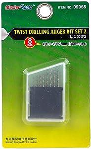 Master Tools Twist Drilling Auger Bit Set 2 - Plastic Model Building Tools # 09955
