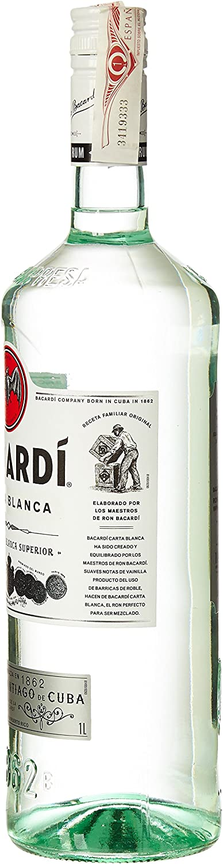 Bacardi Carta Blanca Ron, 1L