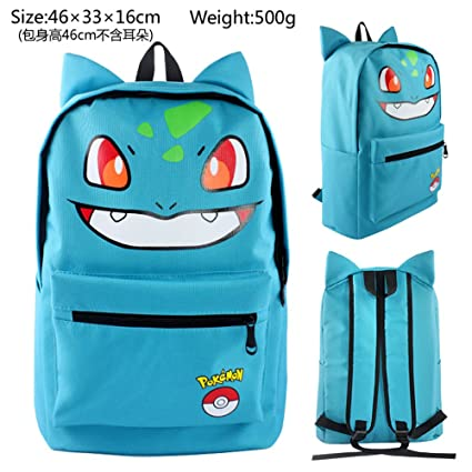 Pokemon mochila para portátil Mochila Escolar Bolsa de viaje – Bulbasaur