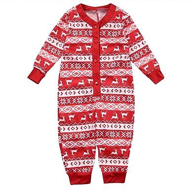 d3f4f4f7f Parent-Child Family Matching Christmas Pyjamas Dad Mom Kids Baby ...